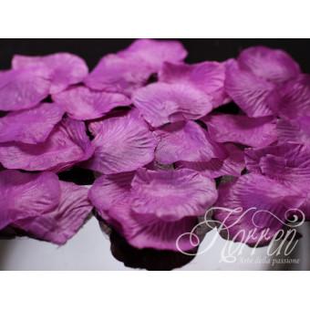 Płatki róż - śliwkowe100szt