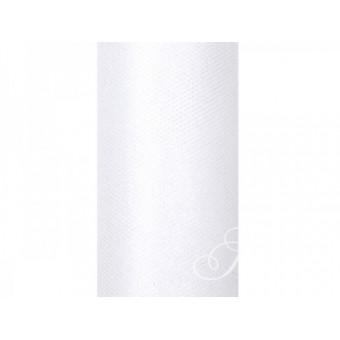 Tiul gładki 15cm x 9mb - biały