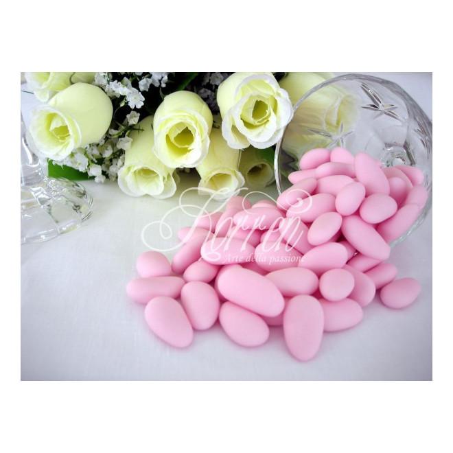 Włoskie migdały w lukrze - różowe 1kg