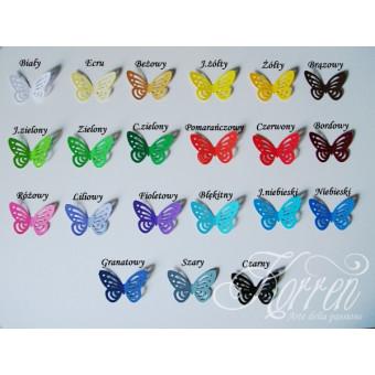 Motylki dekoracyjne 10 szt