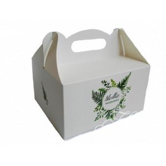 Pudełko na ciasto - paprocie
