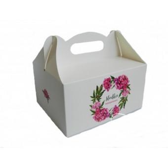 Pudełko na ciasto - piwonie