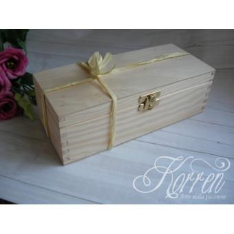 2Drewniane pudełeczko podziękowanie + herbata/ rafia