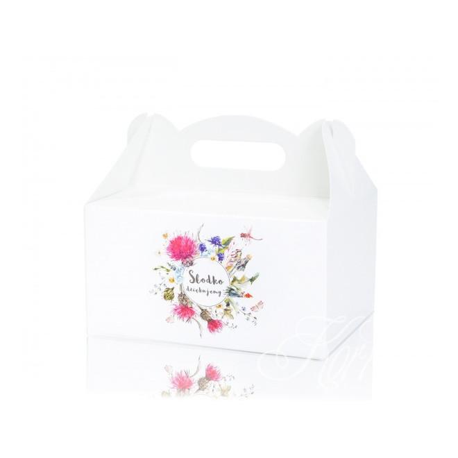 Pudełko na ciasto - polne kwiaty