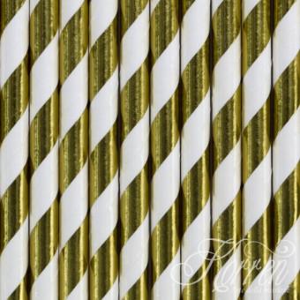 SŁOMKI papierowe - złote -...