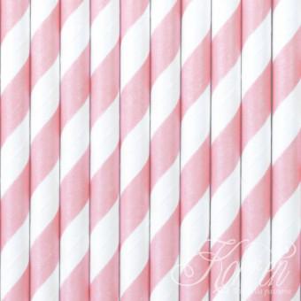 SŁOMKI papierowe - różowe -...