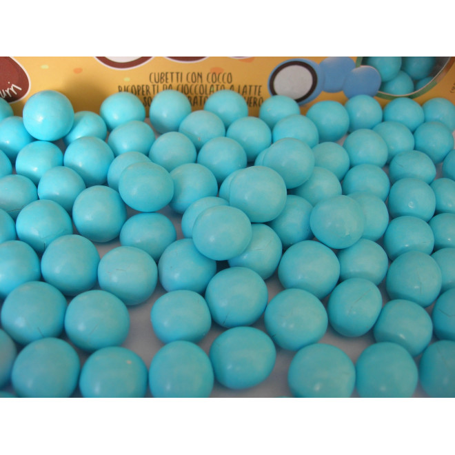 Kokos w czekoladzie i w lukrze - niebieski 0,5 kg